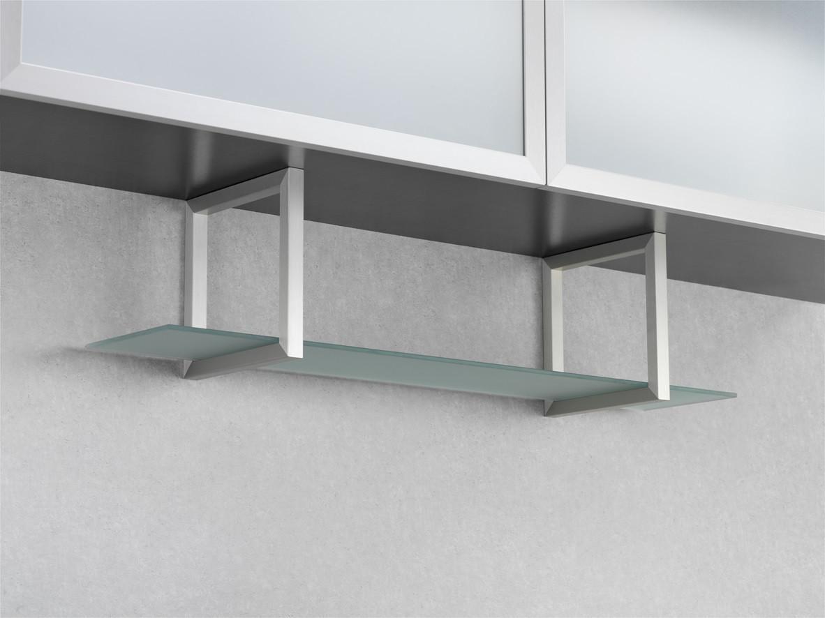 Wesco Regal Unterbau Glasregal Aluminium Edelstahl Küchenregal ...