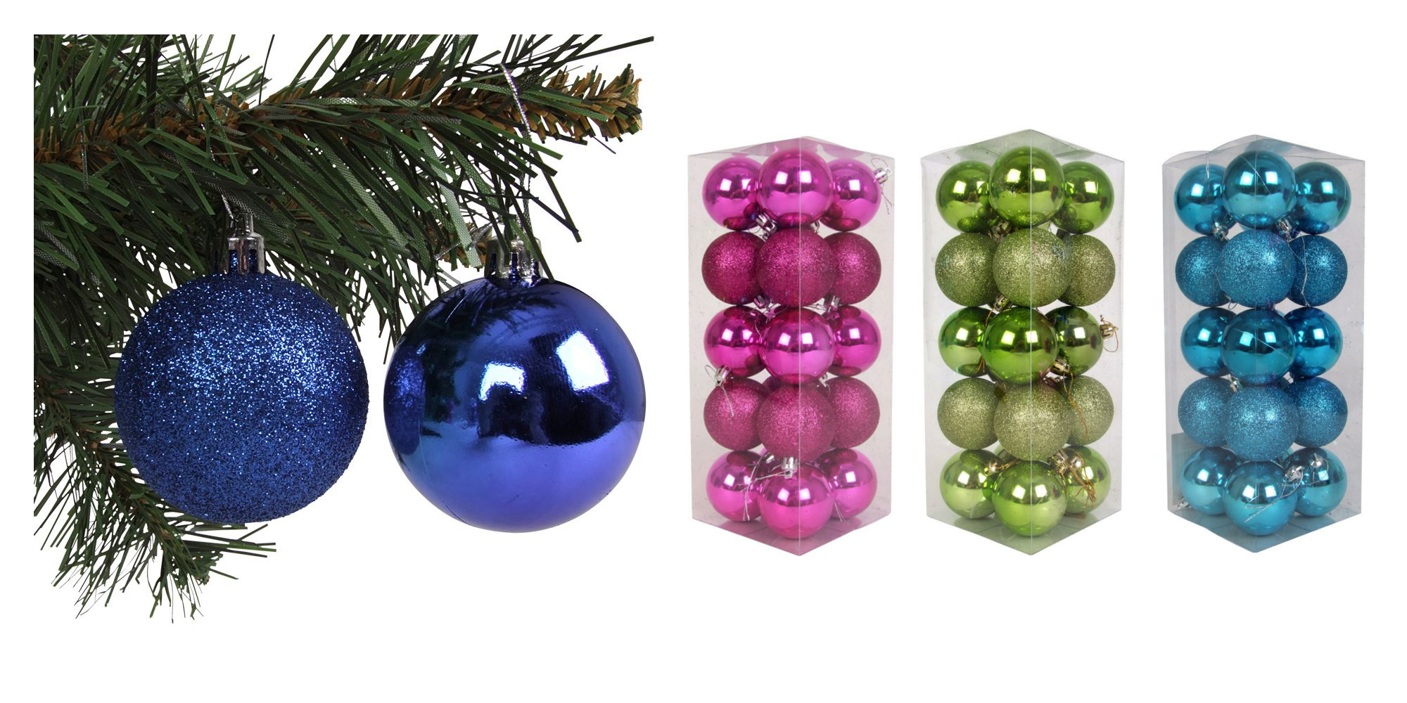 Christbaumkugeln Türkis Kunststoff.Weihnachtsbaumkugeln 20er Set Christbaumkugeln Baumschmuck 6cm Weihnachtsdeko
