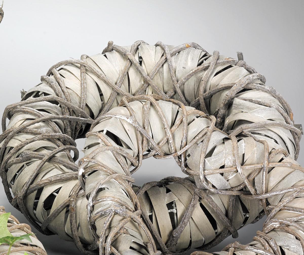 deko dekokranz kranz grau 37cm 123219c - kaufen bei www.1a, Wohnzimmer dekoo