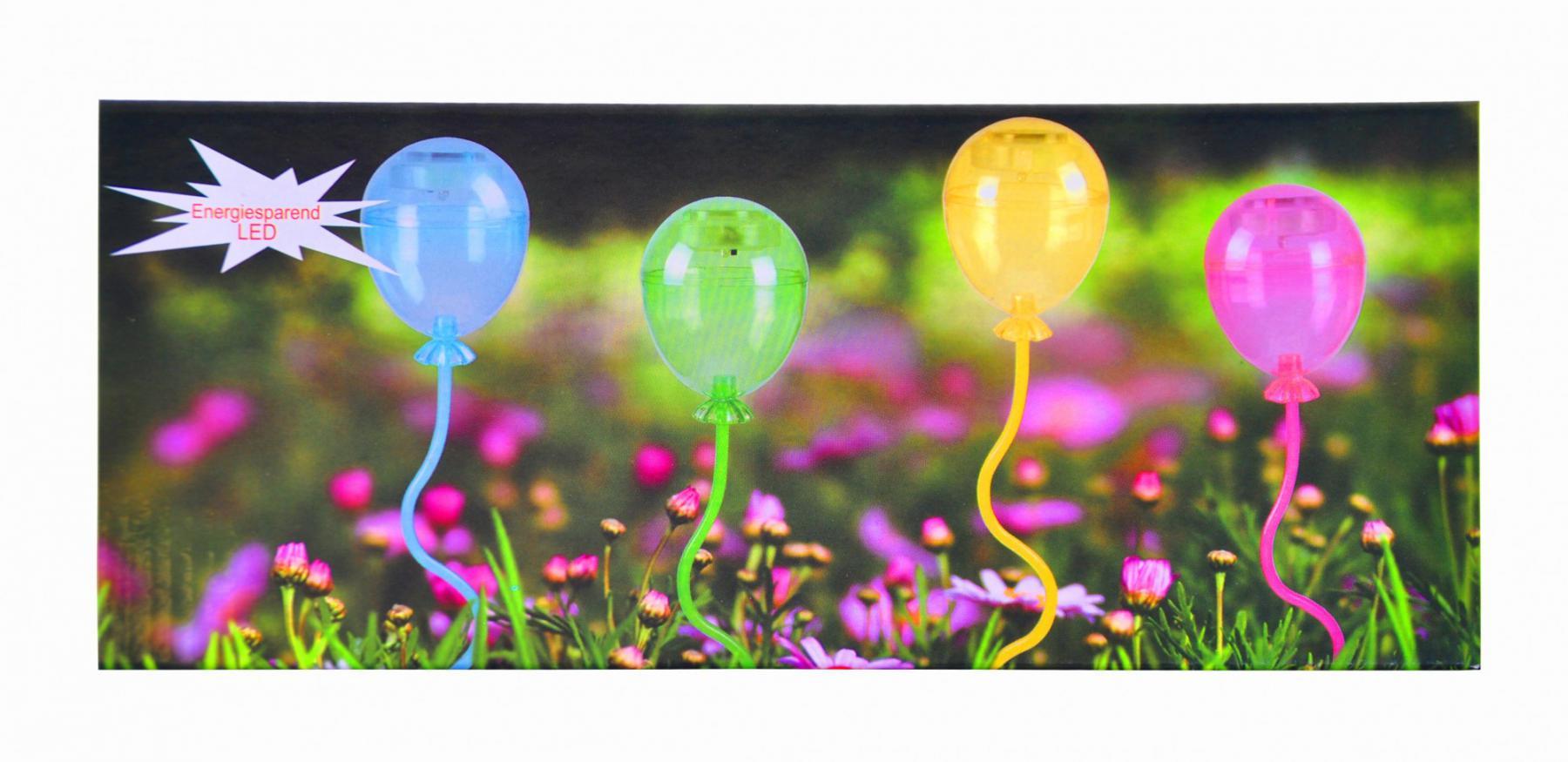 solar led 4er ballon set mit schalter leuchtdeko deko. Black Bedroom Furniture Sets. Home Design Ideas