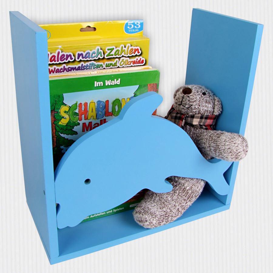 kinderregal delfin spielzeugregal wandregal regal. Black Bedroom Furniture Sets. Home Design Ideas