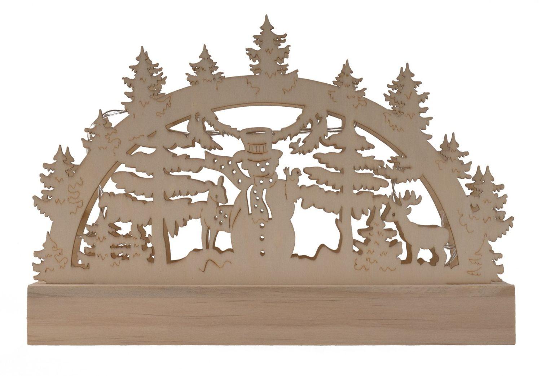 Weihnachtsdeko Schwibbogen.Holz Schwibbogen 5 Leds Blau Lichterbogen Weihnachtsdeko Fensterdeko Adventsdeko