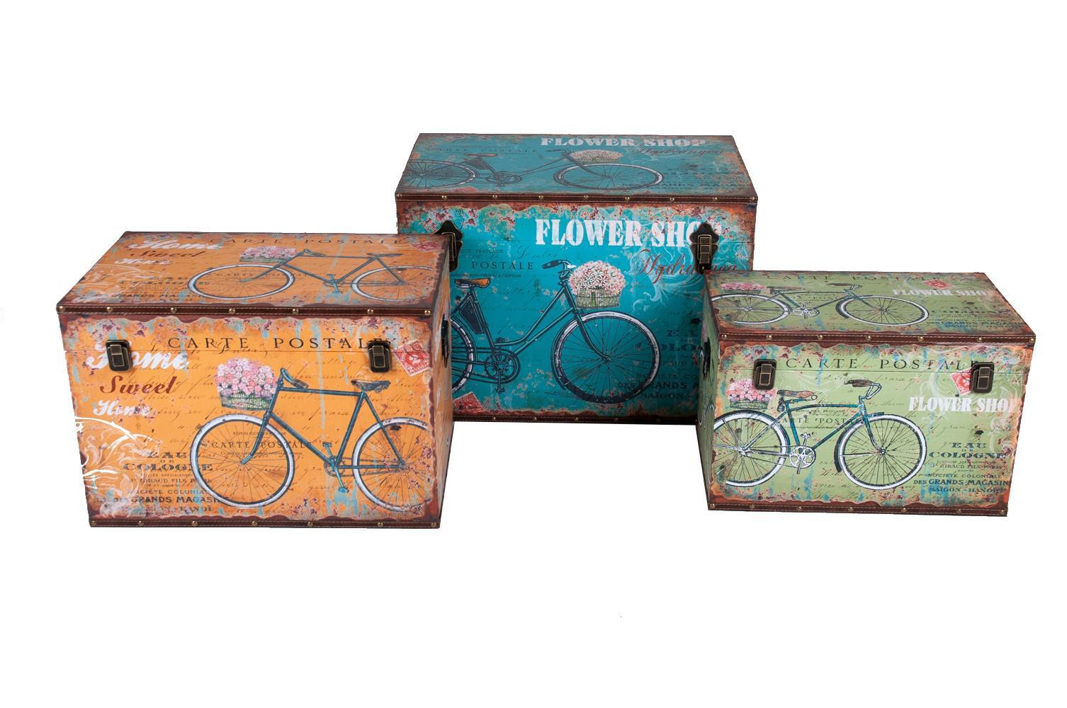holztruhe fahrraddesign vintage holzkiste holztruhe truhe kiste aufbewahrungsbox kaufen bei. Black Bedroom Furniture Sets. Home Design Ideas