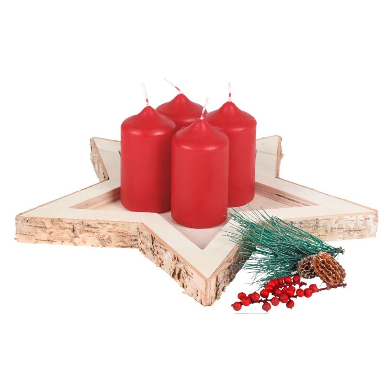 Weihnachtsdeko Aquarium.Deko Holztablett Stern Kerzenhalter Tischdeko Weihnachtsdeko Gesteckunterlage
