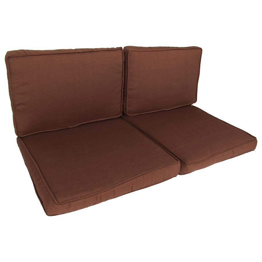 Couch Auflagen: Lounge Auflagen-Set 8er Cappuccino-Braun Sitzgruppe Sessel