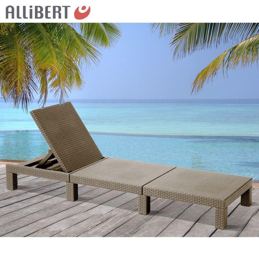 Allibert Mississippi Sunlounger Sunlounger Sunlounger Cappuccino Sonnenliege Gartenliege Polyrattan 0d2f44