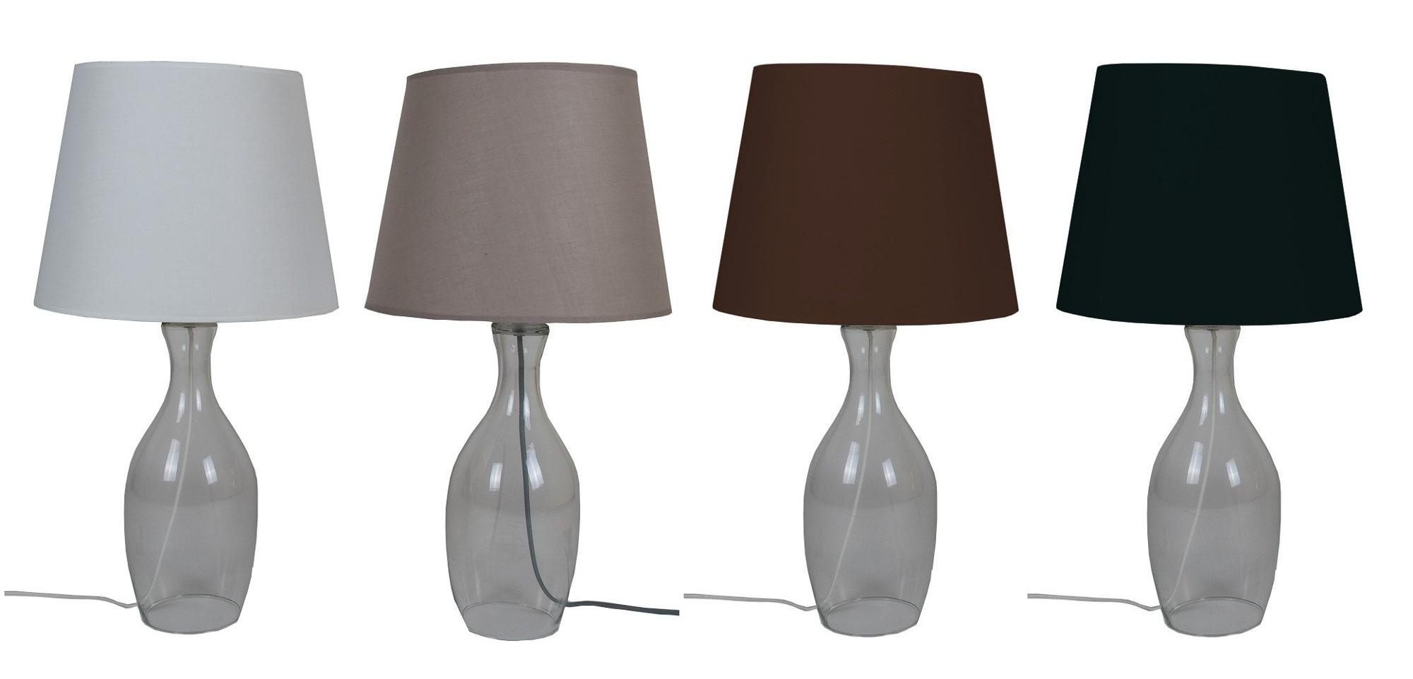 Wunderbar Tischlampe Glasfuß Beste Wahl Mit Glasfuß 63 Cm 1