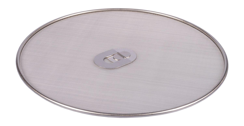 Edelstahl-Pfannenspritzschutz 30cm Spritzschutzdeckel Spritzschutz klappbar