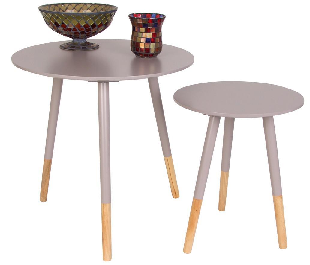 Beistelltische Holz beistelltisch 2er set holz dekoration ideen