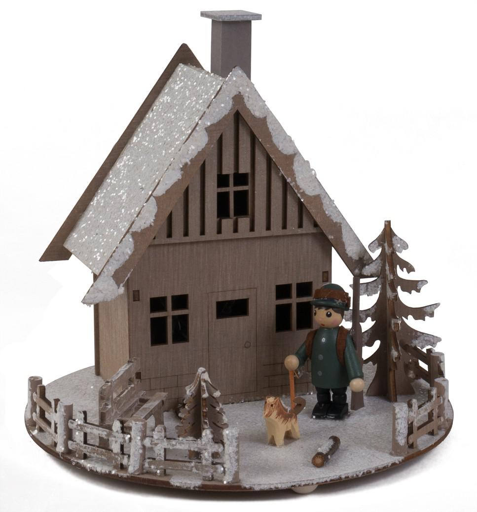 Led weihnachts winterlandschaft ca 20x20x17 cm haus - Winterlandschaft dekoration ...
