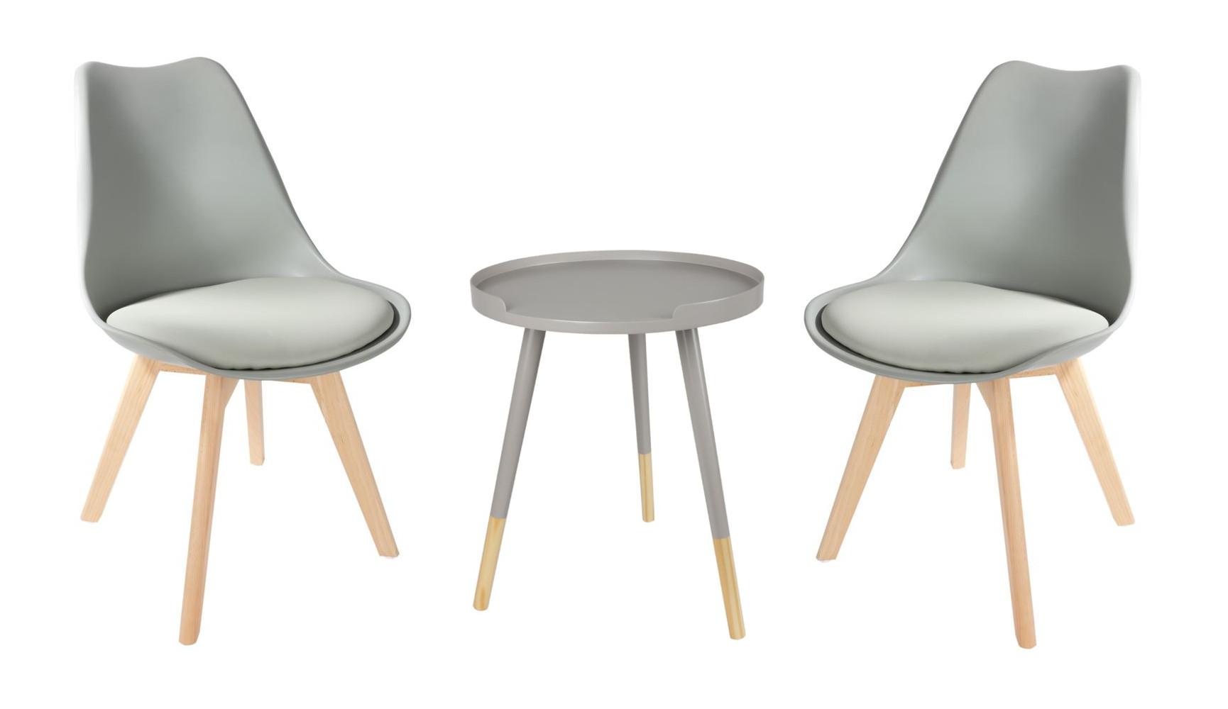 Faszinierend Schalenstuhl Gepolstert Sammlung Von Sitzgruppe Grau Beistelltisch Set Tabletttisch Esszimmerstuhl Deko