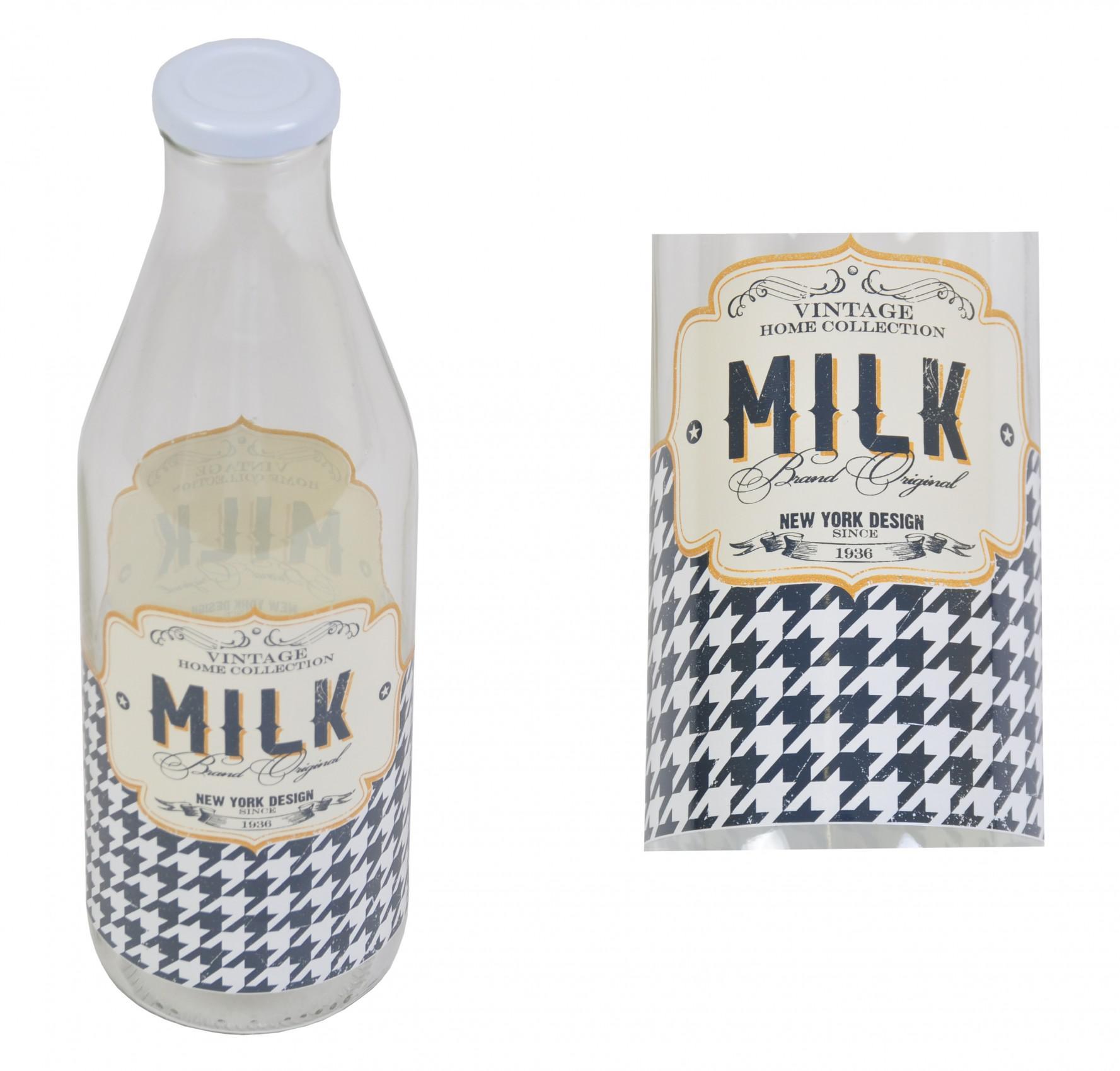 milchflasche 1 liter retro milk m metalldeckel milch glasflasche vintage flasche kaufen bei. Black Bedroom Furniture Sets. Home Design Ideas
