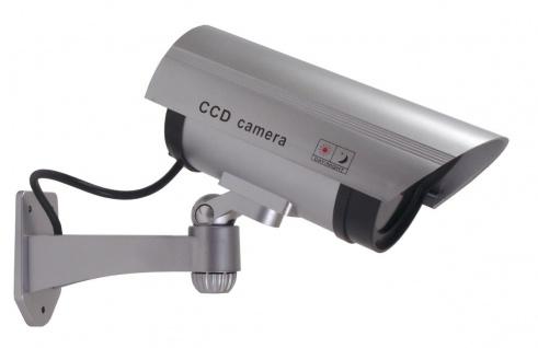 Überwachungskamera-Attrappe LED Außen u Innen Dummy`s Fake Kamera Camera CCD