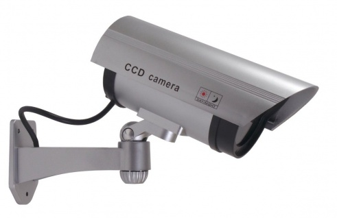 Überwachungskamera-Attrappe LED Dummy Fake Kamera Camera CCD außen und innen