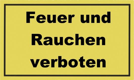 """METAFRANC SCHILD Kennzeichnungsschild ,, Feuer und Rauchen verboten"""" 500260 Feuer Verb.500260"""
