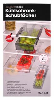 GOURMETmaxx Kühlschrank-Schubfächer 2er-Set Vorratsfach Schubladen Vorratsdosen