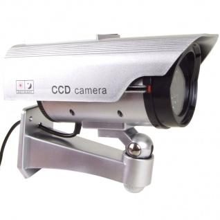 Überwachungskamera Attrappe mit LED und Solar - Vorschau 2
