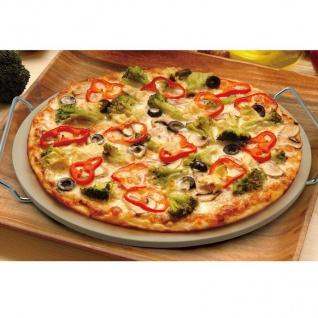Pizzastein 33cm Backofenstein Steinofengeschmack Backblech Flammkuchen Brot - Vorschau 2