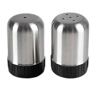 Mini Salz- und Pfefferstreuer im Set aus Edelstahl Salzstreuer Gewürzstreuer
