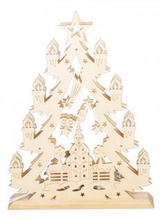 Fensterdeko Holz leuchtende fensterdeko holz deko tanne kirche holzdeko weihnachten