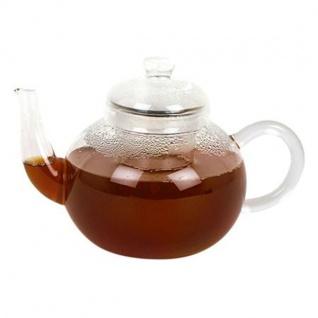 Glasteekanne mit Glas Teesieb 500ml Teekanne Glaskanne Teezubereiter Tee Kanne