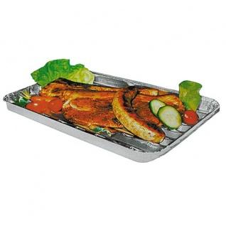 Alu-Grillpfannen 5er-Set Grillschale Grillrost Grillpfanne Grillkorb Gemüsekorb - Vorschau 2