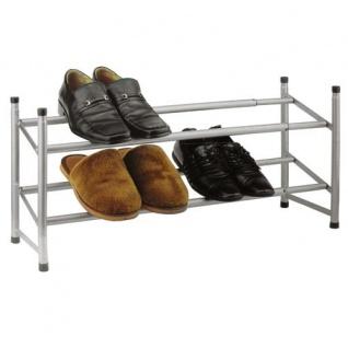 Metall Schuhregal ausziehbar Schuhständer 64x115 cm Schuhe Aufbewahrung Regal