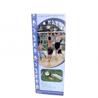 Hobby-Beach-Volleyballset Beachvolleyball Ballspiel Set Strandball ca.6x2x1, 95m