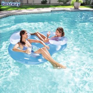 Bestway Luftmatratze Lounge Schwimmsessel Wasserliege Badeinsel Schwimmliege
