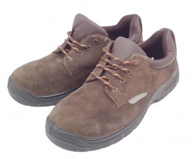 Sicherheitsschuhe Arbeitsschuhe Schutzschuhe Halbschuhe Stiefel Leder Stahlkappe - Vorschau 2