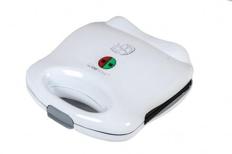 Clatronic® Sandwichtoaster ST3142 2-fach weiß Sandwichmaker Kontaktgrill Toaster