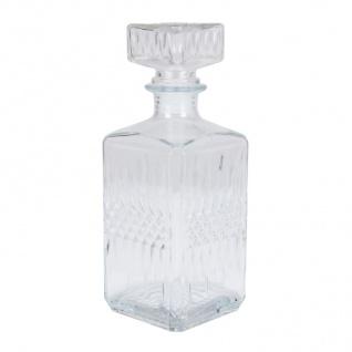 Whiskykaraffe aus Glas 850ml Whisky Whiskey Cognac Likör Karaffe Dekanter