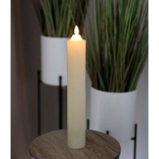 LED Wachskerze elfenbein 5x32, 5cm Altarkerze Stumpenkerze Weihnachtskerze Kerze