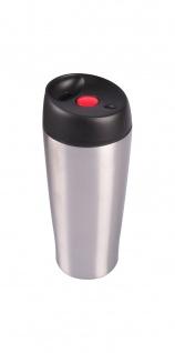 Edelstahl Thermobecher 0, 4L mit Druckknopf Reisebecher Trinkbecher Kaffeebecher