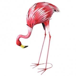 Flamingo 73cm Metal Dekovogel Gartenfigur Gartendeko Teichdeko Gartenstecker