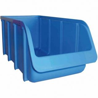 Sichtbox PP Größe 3 blau 315/285x145x125mm Stapelboxen Lager Box Sichtlagerboxen