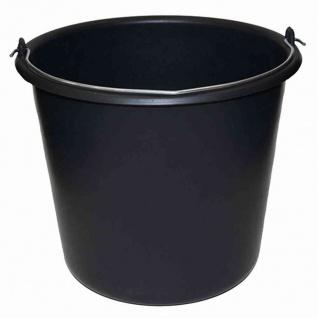 Baueimer 10 L schwarz mit Literskala