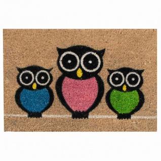 Kokosmatte Coco Owls 40x60cm Fußmatte Schmutzfangmatte Fußabtreter Haushalt TOP
