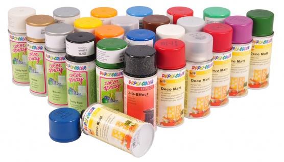 Dupli-Color Farbspray 150ml versch. RAL matt glänzend Acryl Farbe Klarlack 3-D