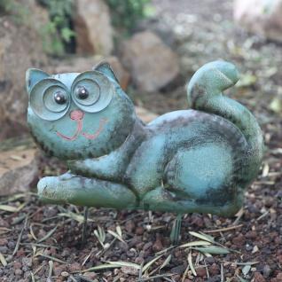 Metall-Beetstecker Katze Gartenstecker Gartendeko Gartenfigur Shabby 36x24x2, 5cm - Vorschau 2