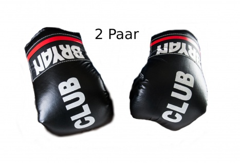 2 Paar BRYAN Boxhandschuhe Trainingshandschuhe Kickboxhandschuhe Boxen schwarz