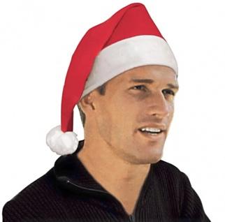 Nikolausmütze mit Bommel Weihnachtsmütze Weihnachtsmarkt Weihnachtsmann Advent