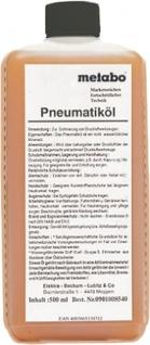 metabo Pneumatiköl 901008540 PneumatikÖl 0, 5 L