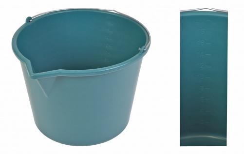 Baueimer 20L mit Gießrand grün Maurereimer Zementeimer Wassereimer Schutteimer