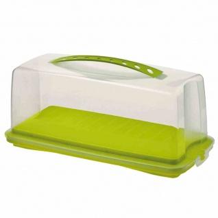 """Kuchenbehälter """" Fresh"""" natur/grün gedeckt 36 x 16, 5 x 16, 5 cm"""