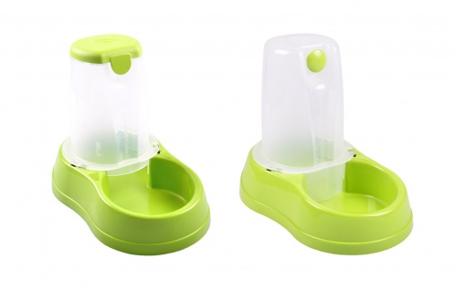 Haustier Wasserspender oder Futterspender 1, 5L automatisch Wassernapf Fressnapf