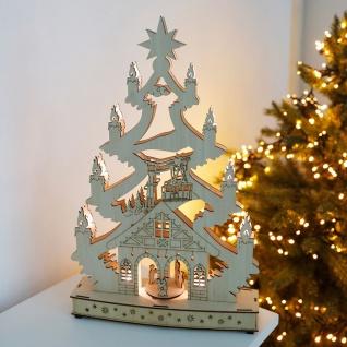 LED Fensterdeko 5 LEDs blau Weihnachtsdeko Schwibbogen Lichterbogen Fensterbild