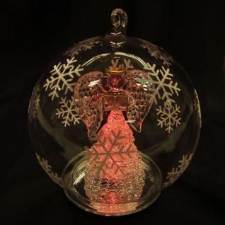 LED-Weihnachtsbaumkugel -Engel- mit Farbwechsler Deko Glaskugel Christbaumkugel - Vorschau 5