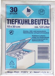 GEFRIERBEUTEL Tiefkühlbeutel 502 150x300 Bt A30st