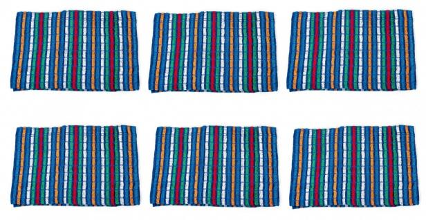 6er-Set Frottee Grubentücher Geschirrtücher Küchentücher Baumwolltücher Handtuch